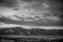 Desierto de Tabernas en blanco y negro