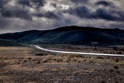 Carretera que lleva a la localidad de Lubrín