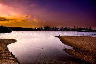 La Laguna al atardecer