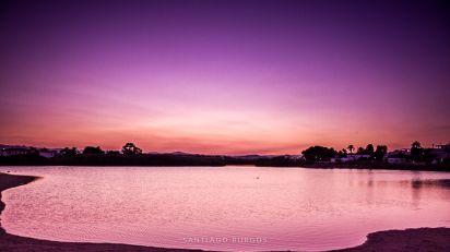 La laguna en morado