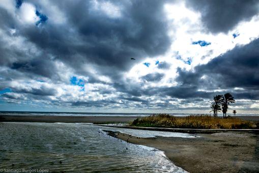 La playa de Vera después de la tormenta.